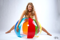 Tracy and a beach ball
